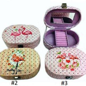 Декоративен сандък от изкуствена кожа за козметика, бижута и аксесоари