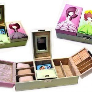 Луксозна кутия за бижута принцеса с заключващ механизъм