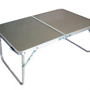 Алуминиева сгъваема маса куфар е лека и лесно преносима. Удобна за къмпинг, туризъм, градина.