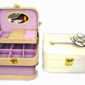 Луксозна кутия за бижута и гримове с ключ Бижутерка