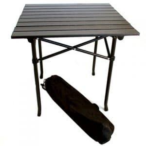 сгъваема дървена маса с удобен калъф