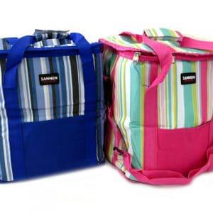 Хладилна чанта за къмпинг в син или розов цвят