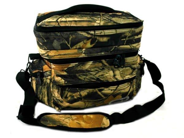 Камуфлажна хладилна чанта с три джоба и горно отделение