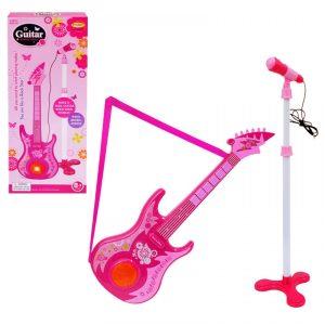 розова китара за деца