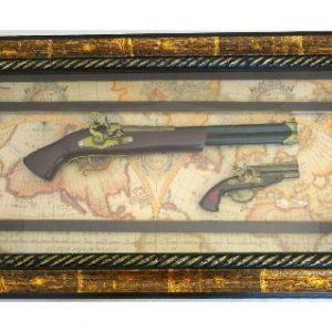 пано картина пушка с пистолет